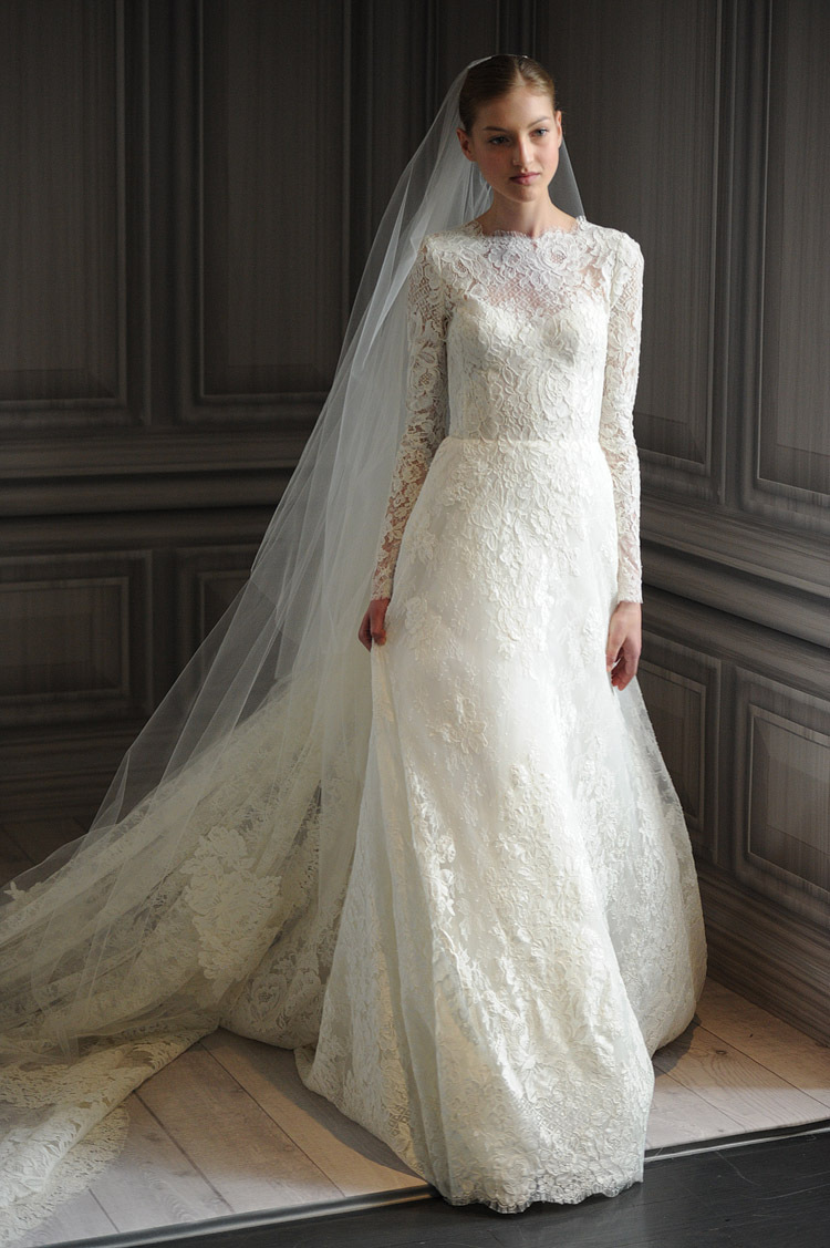 2014 2015 Wedding Dress Trends Lace Sleeves Dipped