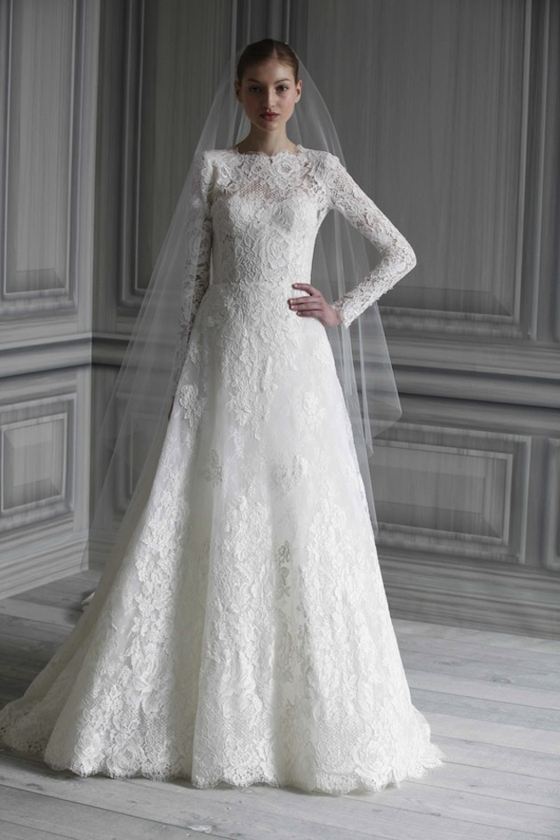 2014 – 2015 Wedding Dress Trends – Lace Sleeves – Dipped In Lace