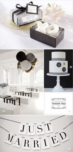 Black & White Wedding Theme Ideas 13