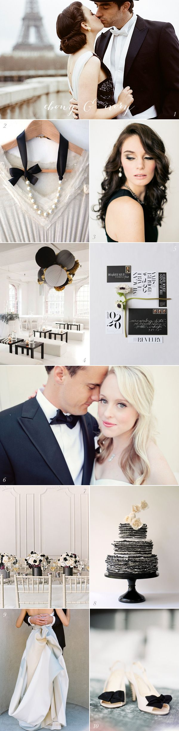 Black & White Wedding Theme Ideas 18