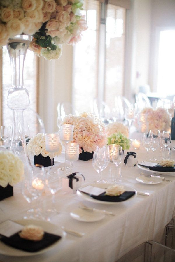 Black white wedding theme ideas 20 dipped in lace for All white wedding theme pictures