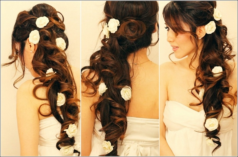 Half Up Half Down Wedding Hairstyles 6