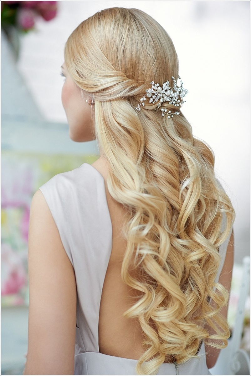 Half Up Half Down Wedding Hairstyles 7