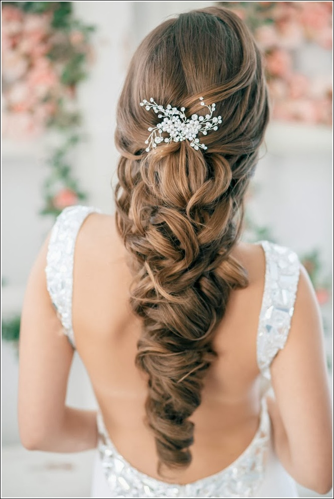 Half Up Half Down Wedding Hairstyles 8