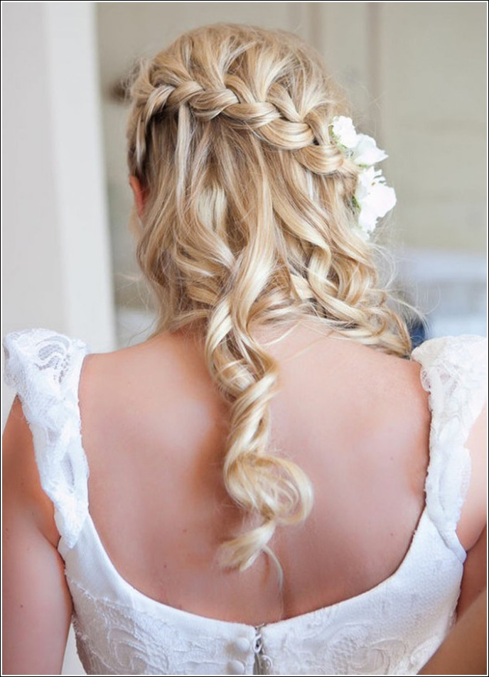 Half Up Half Down Wedding Hairstyles 9