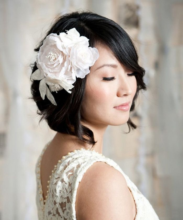 Remarkable Wedding Hairstyles For Short Hair Dipped In Lace Short Hairstyles Gunalazisus
