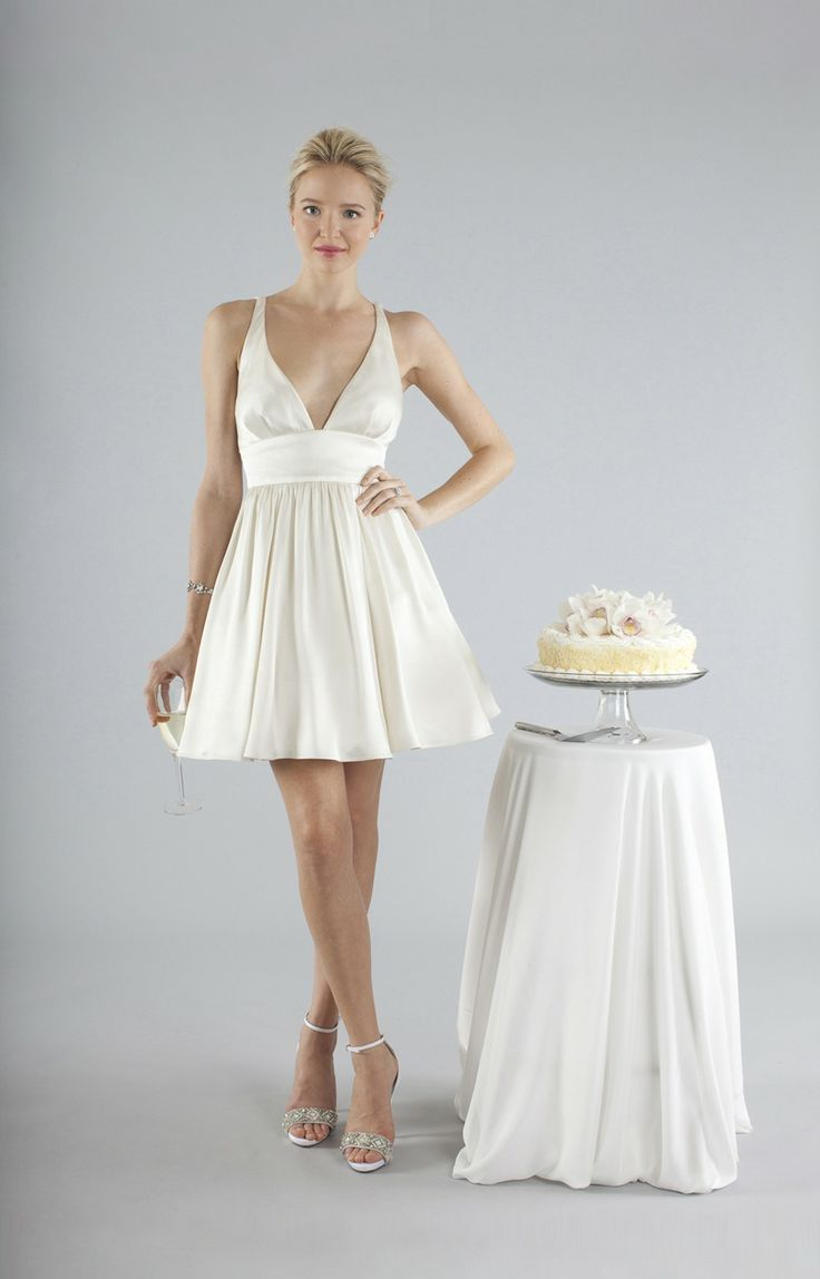 10 short little white dresses to wear to your wedding for White dress after wedding