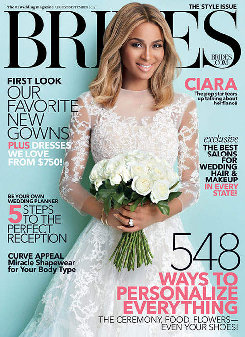 Bride To Be Ciara Covers BRIDES Magazine and Dishes On FUTURE Wedding Plans