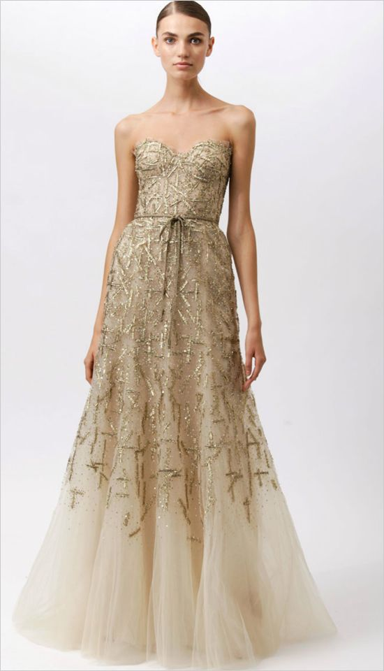2014 Fall - 2015 Winter Wedding Dress Trends - Metallic Wedding Dresses 10