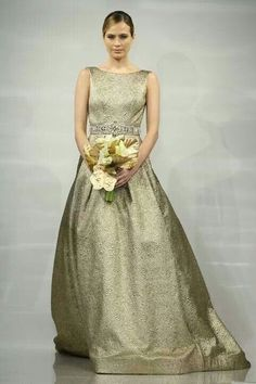 2014 Fall - 2015 Winter Wedding Dress Trends - Metallic Wedding Dresses 13