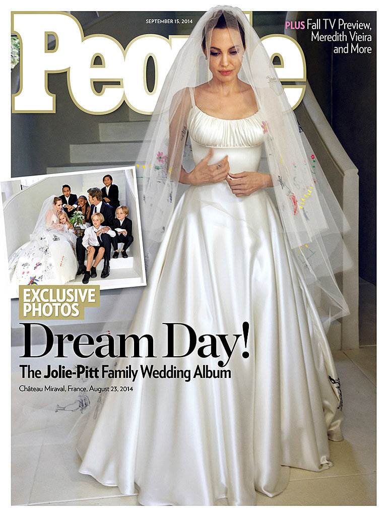 Celebrity Wedding Gowns – Angelina Jolie\'s Unique Versace Wedding ...