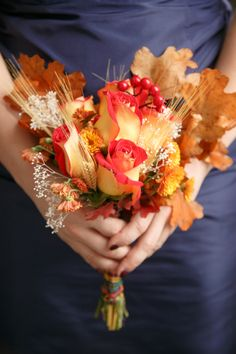 Fall Wedding Bouquet Ideas – Dipped In Lace
