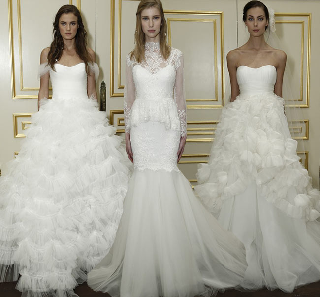 Marchesa Bridal Fall 2015 - Winter 2016 Wedding Dress Collection