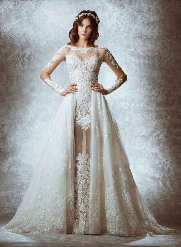 Zuhair murad fall 2015 winter 2016 bridal dresses for Fall lace wedding dresses