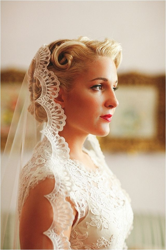 Retro Inspired Wedding Hairstyles 3 Dipped In Lace