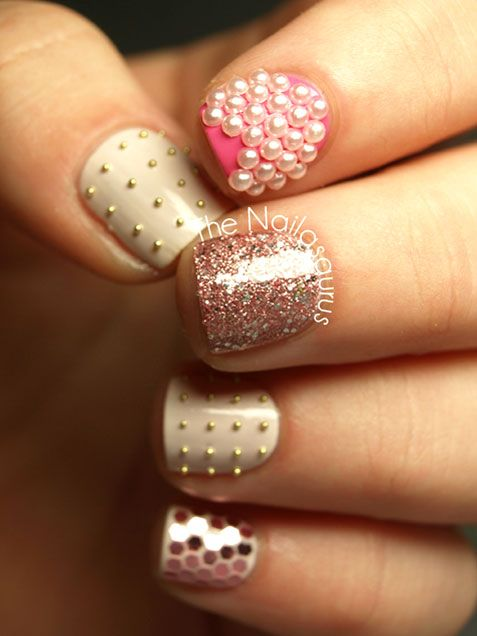 Wedding Nail Designs - Nail Art Ideas Made For the Bride 18