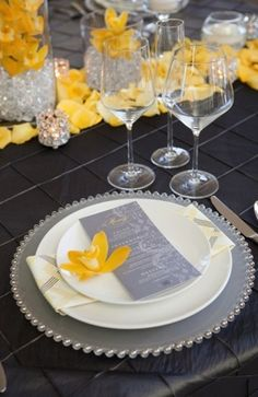 Gray & Yellow Wedding Inspiration 11