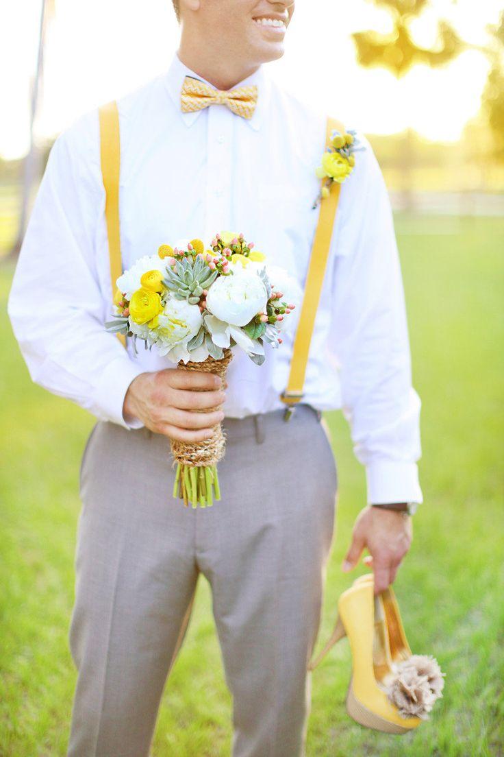 Gray & Yellow Wedding Inspiration 12