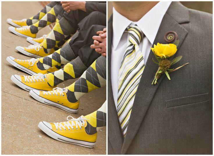 Gray & Yellow Wedding Inspiration 13