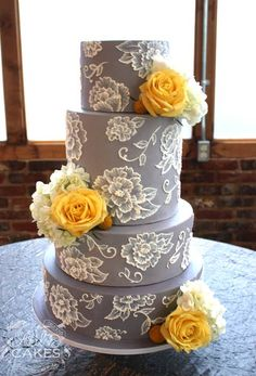 Gray & Yellow Wedding Inspiration 14