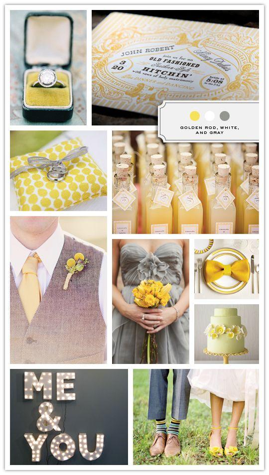 Gray & Yellow Wedding Inspiration 15