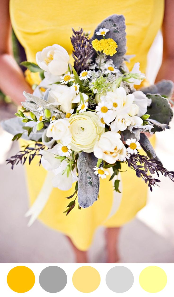 Gray & Yellow Wedding Inspiration 4