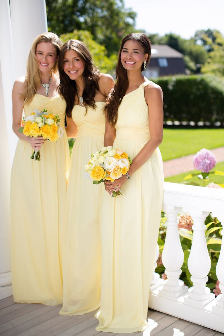 Gray Yellow Beach Bridesmaid Dress Fashion Dresses