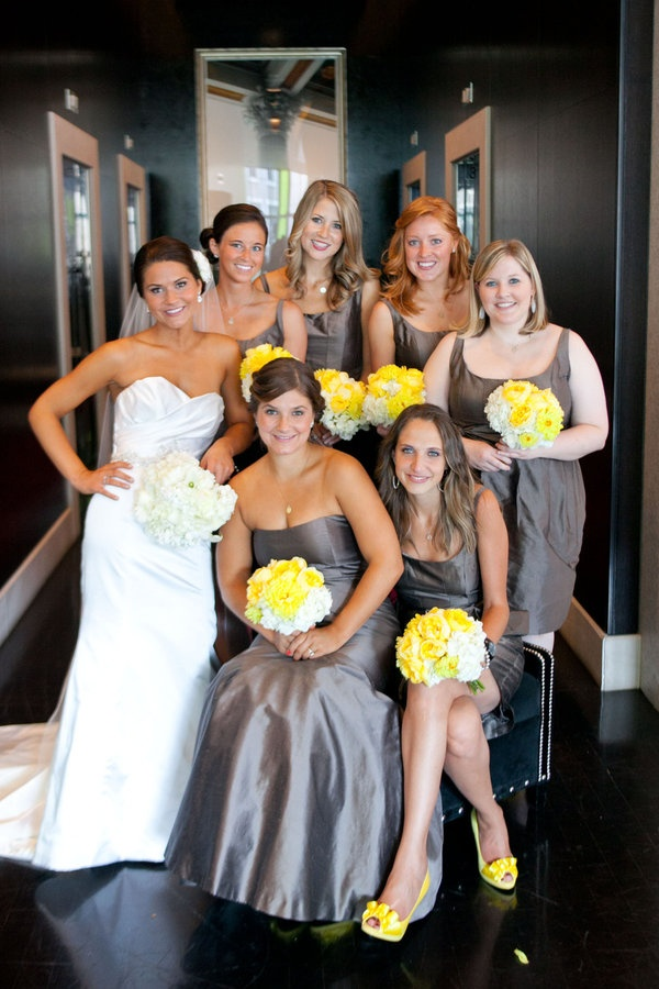 Gray & Yellow Wedding Inspiration – Dipped In Lace
