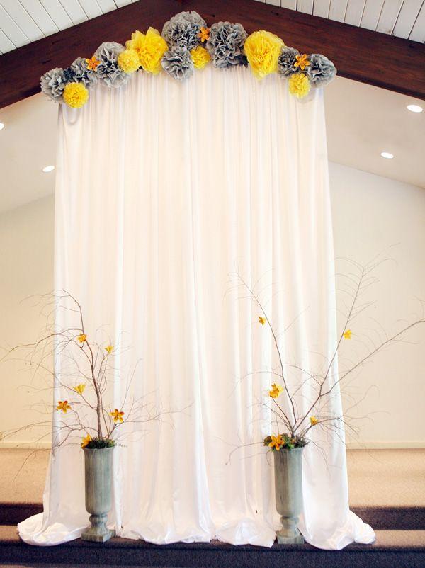 Gray & Yellow Wedding Inspiration 7