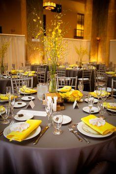 Gray & Yellow Wedding Inspiration 9