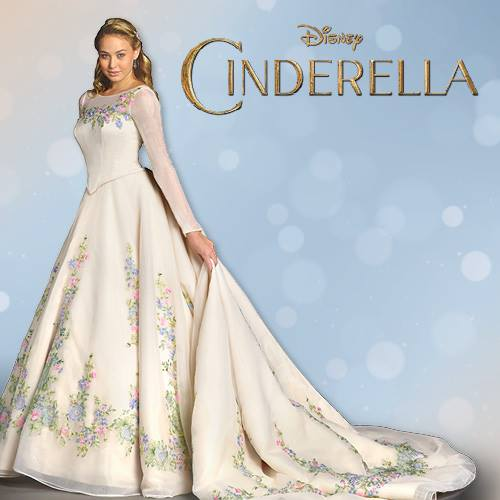 as cinderella see her charming wedding dress dipped in lace
