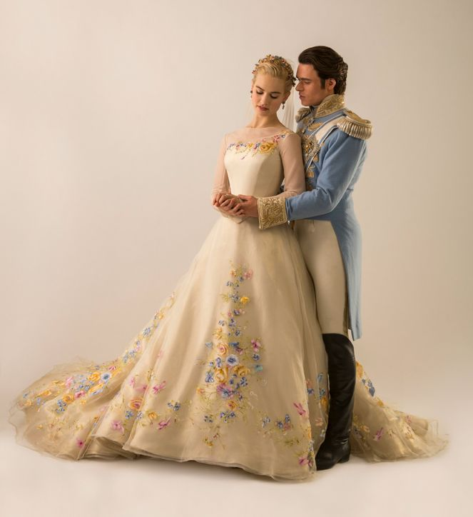 Lily James as Cinderella - See Her Charming Wedding Dress