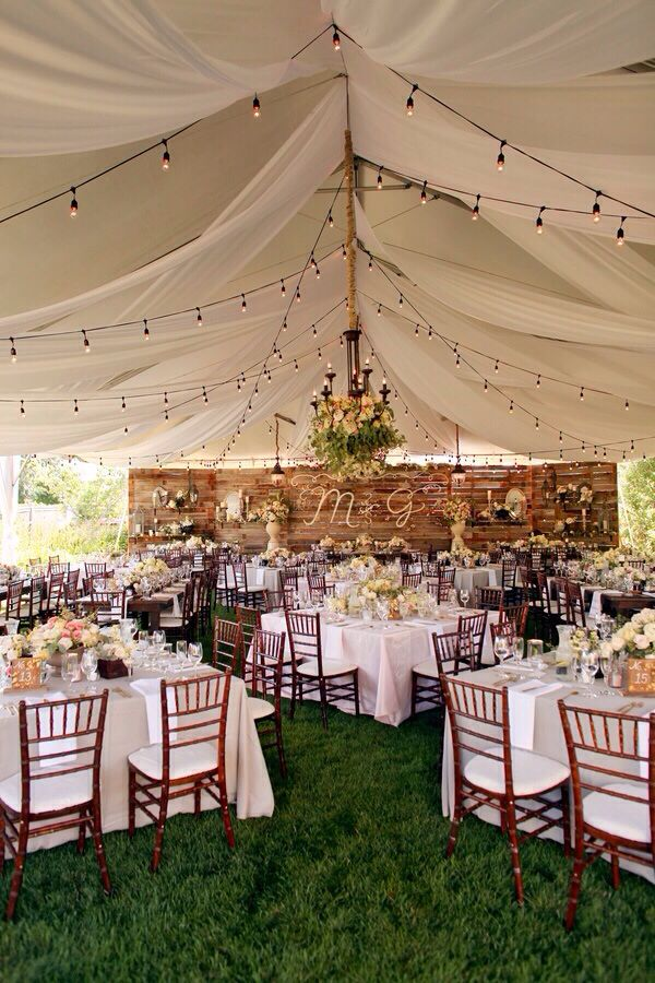 Outdoor wedding reception ideas 15 dipped in lace for Backyard wedding decoration ideas