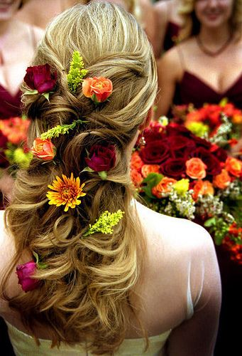 Wedding Hairstyles With Flowers 13