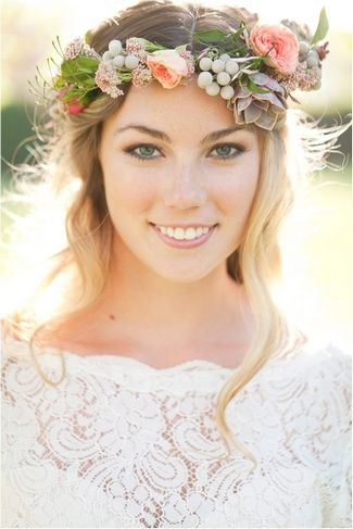 Wedding Hairstyles With Flowers 14