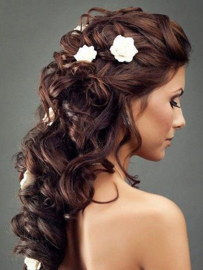 Wedding Hairstyles With Flowers 15