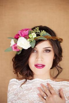 Wedding Hairstyles With Flowers 18