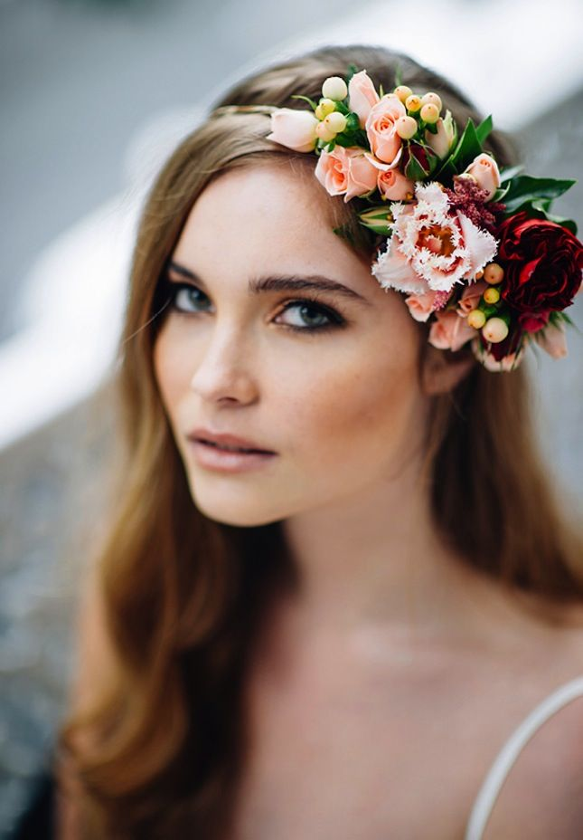 Wedding Hairstyles With Flowers 6