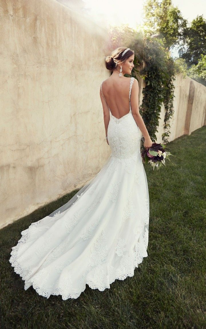 20 Backless Wedding Dresses That Will Make Jaws Drop 6