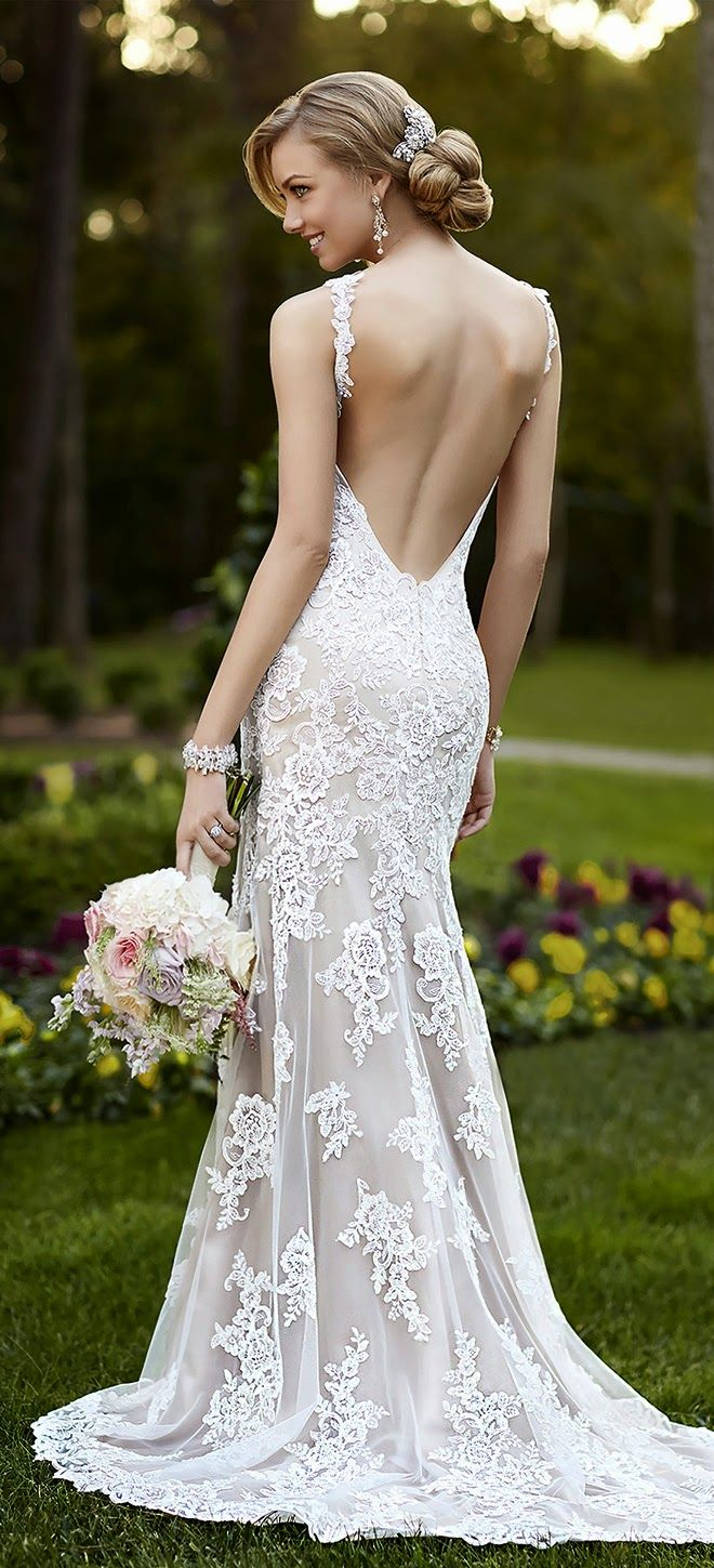 20 Backless Wedding Dresses That Will Make Jaws Drop 8