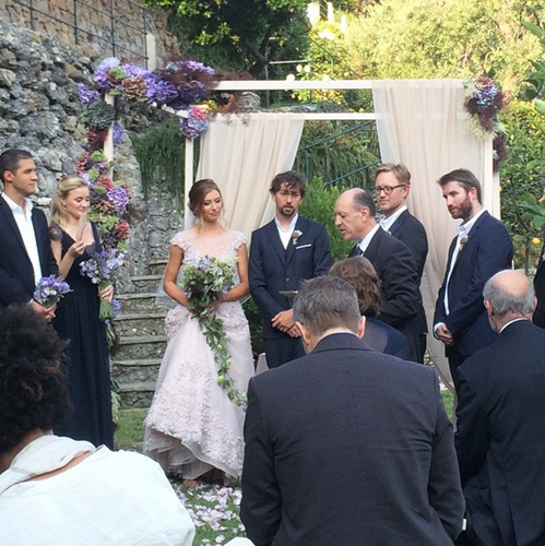 Aly Michalka Ties The Knot In Lavender Wedding Dress 4