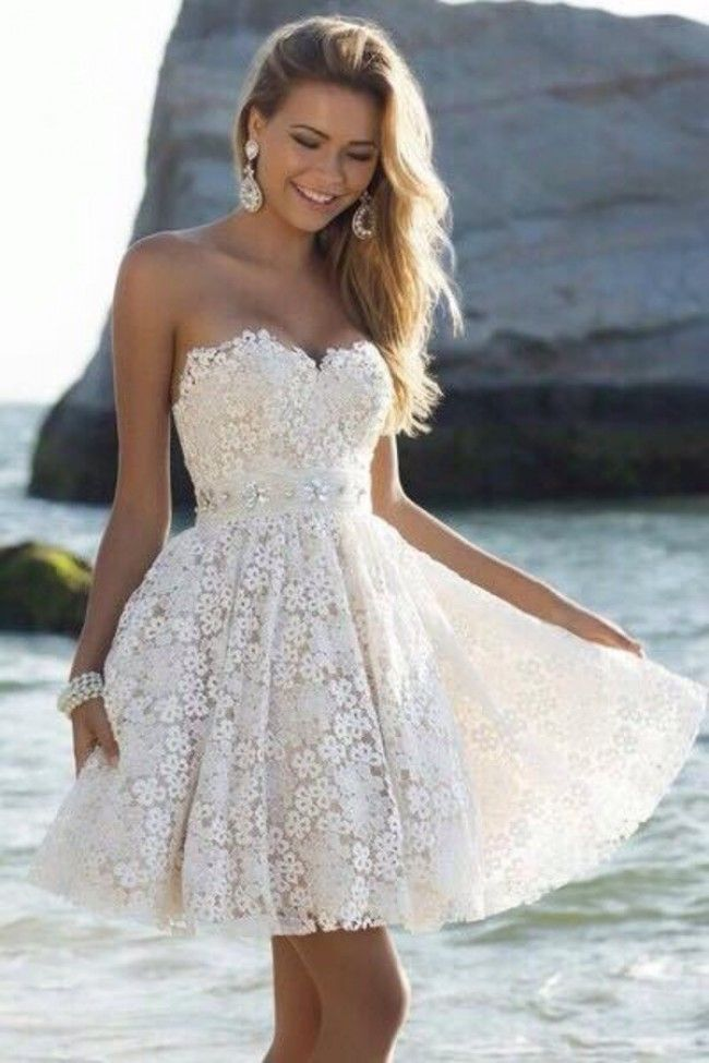 White dress for a wedding party