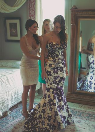 Wedding Trend - Floral Printed Wedding Dresses 2