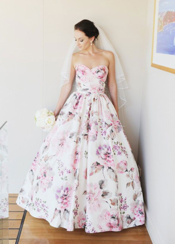 Wedding Trend - Floral Printed Wedding Dresses 3