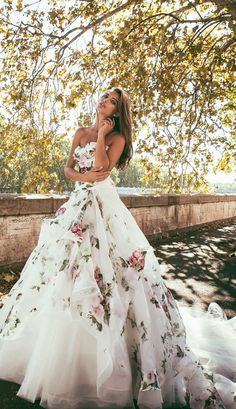 Wedding Trend - Floral Printed Wedding Dresses 4