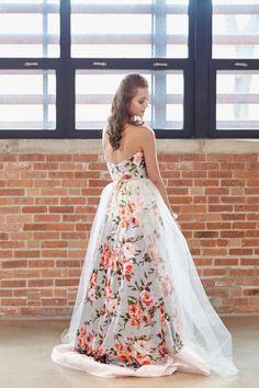 Wedding Trend - Floral Printed Wedding Dresses 5