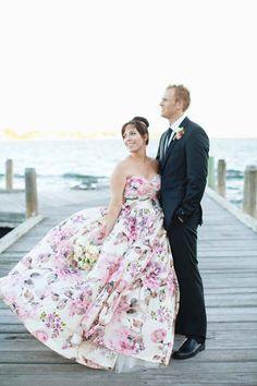 Wedding Trend - Floral Printed Wedding Dresses