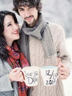 25 Winter Save The Date Ideas Dipped In Lace