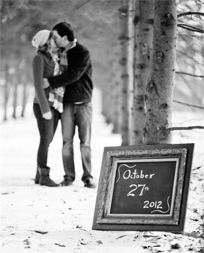 25 winter save the date ideas 6 dipped in lace