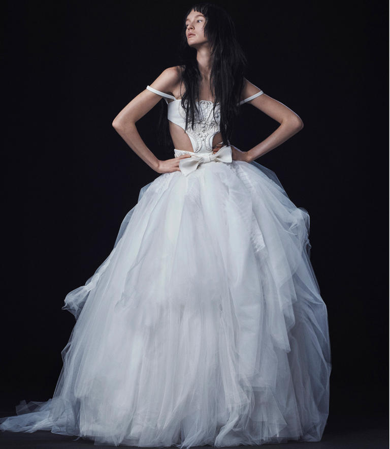 Vera wang fall 2016 wedding dress collection dipped in lace for Backless wedding dresses vera wang